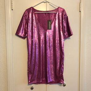 Boohoo Purple Sequin Dress - 4